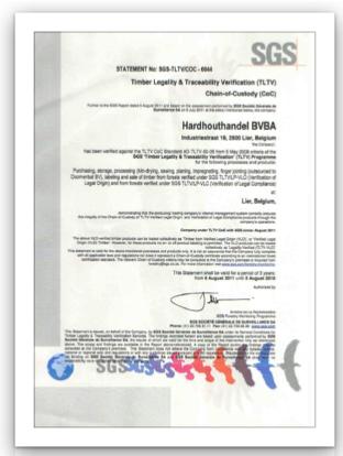 TLTV Certificaat